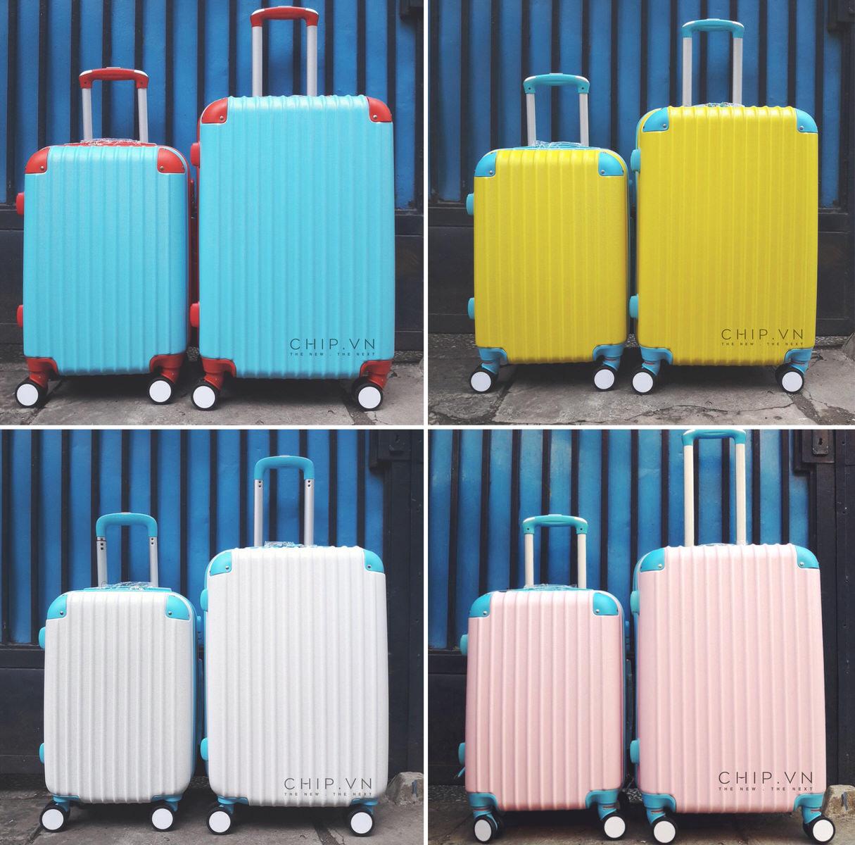 Vali du lịch với màu sắc trẻ trung hiện đại