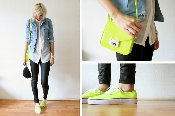 Túi xách xinh màu Neon